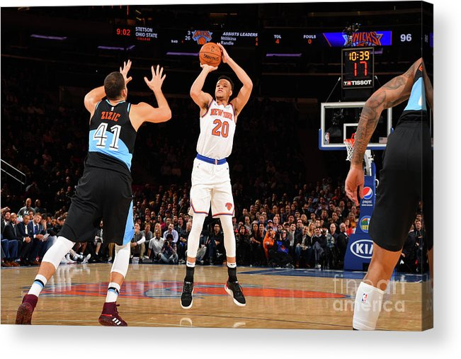 Nba Pro Basketball Acrylic Print featuring the photograph Cleveland Cavaliers V New York Knicks by Jesse D. Garrabrant