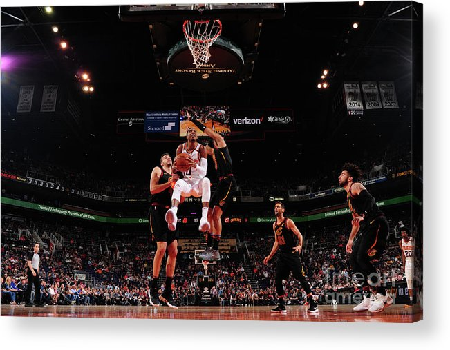 Nba Pro Basketball Acrylic Print featuring the photograph Cleveland Cavaliers V Phoenix Suns by Barry Gossage