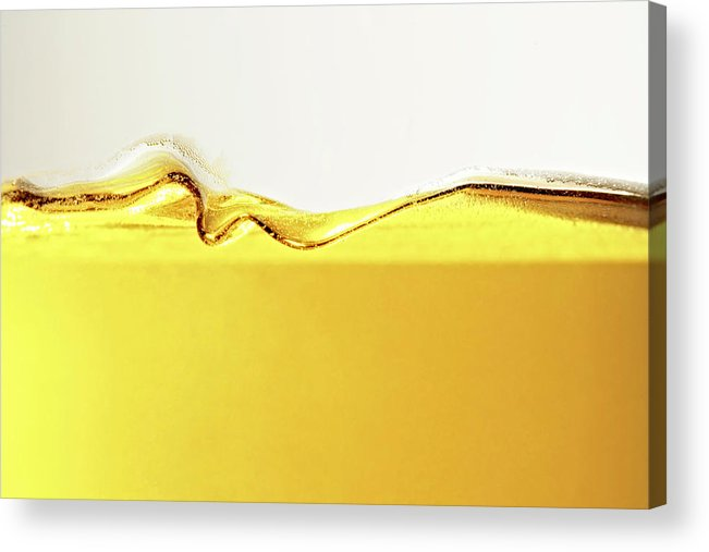 Motion Acrylic Print featuring the photograph Close Up Of Oil In Glass by Cwp