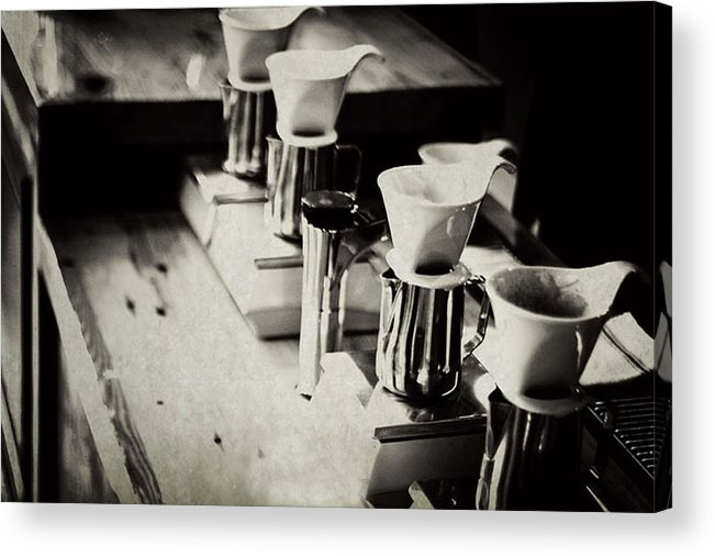 Retail Acrylic Print featuring the photograph Coffee Shop by Hilde Wegner . Photography