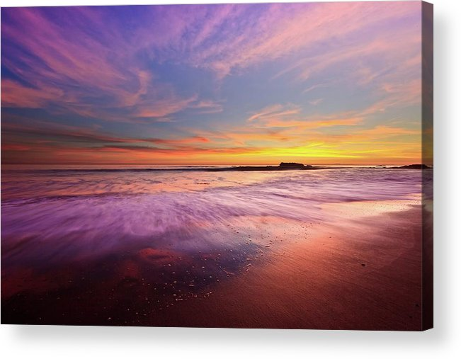 Scenics Acrylic Print featuring the photograph Color Splash At Sunset, Laguna Beach by Eric Lo