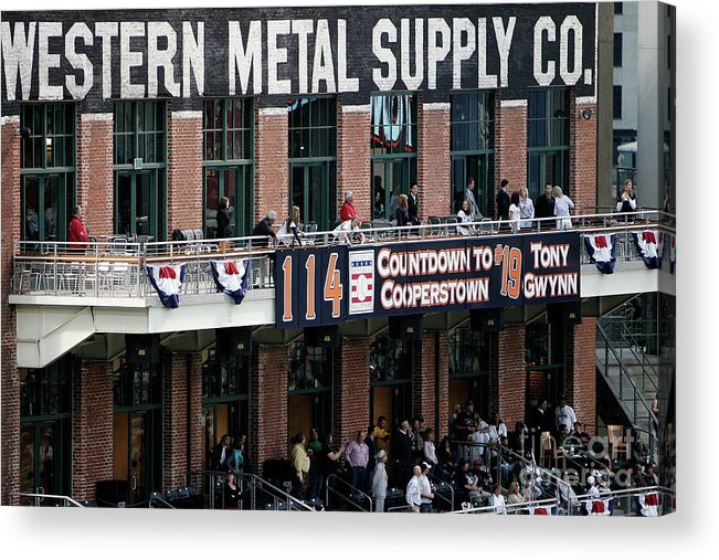 Opening Ceremony Acrylic Print featuring the photograph Colorado Rockies V San Diego Padres by Donald Miralle