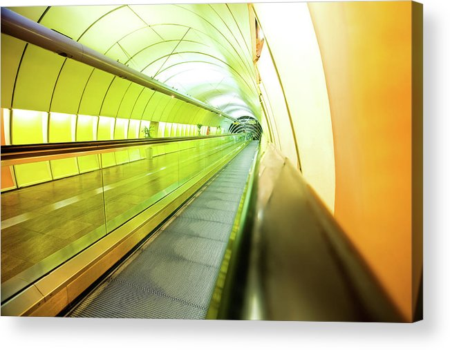Pedestrian Acrylic Print featuring the photograph Colourful Walkway by Nikada