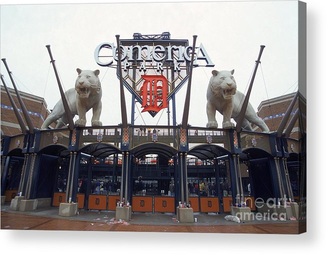 American League Baseball Acrylic Print featuring the photograph Comerica Park by Harry How