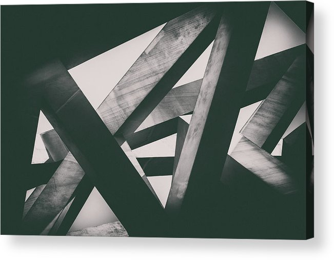 Shadow Acrylic Print featuring the photograph Concrete Pillars by Lordrunar