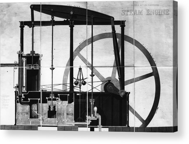 Road-going Steam Engine Acrylic Print featuring the digital art Condensing by Hulton Archive