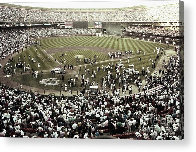 Candlestick Park Acrylic Print featuring the photograph Crowd At Candlestick Park by Bettmann