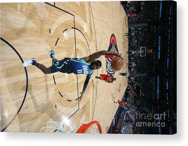 Tim Hardaway Jr. Acrylic Print featuring the photograph Dallas Mavericks V New Orleans Pelicans by Layne Murdoch Jr.