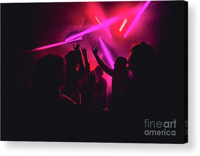 Young Men Acrylic Print featuring the photograph Dancing The Night Away by Solstock