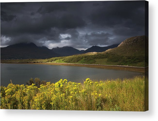 Tranquility Acrylic Print featuring the photograph Dark Storm Clouds Hang Over The by John Short / Design Pics