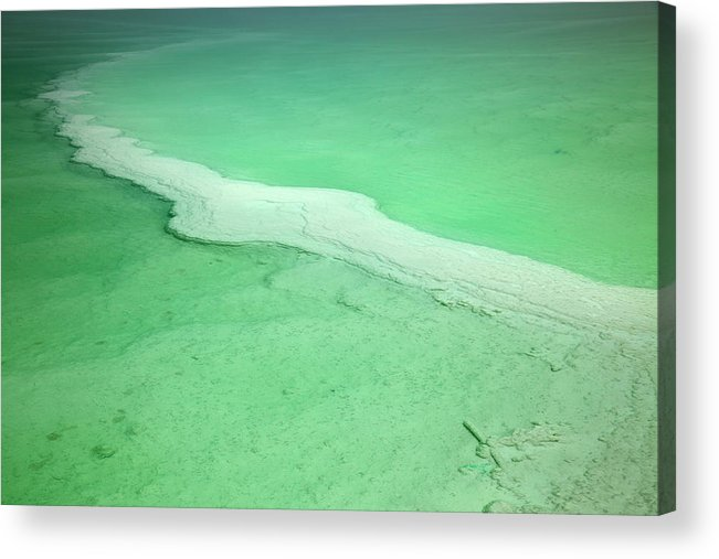Mineral Acrylic Print featuring the photograph Dead Sea Water Surface by Eldadcarin