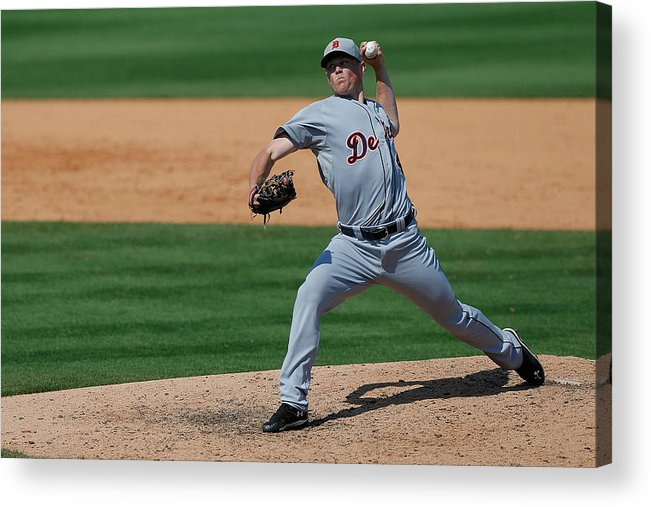 American League Baseball Acrylic Print featuring the photograph Detroit Tigers V St Louis Cardinals by Stacy Revere