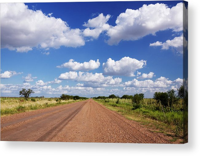 Latin America Acrylic Print featuring the photograph Dirt Road And Puffy Clouds by Jeremy Woodhouse
