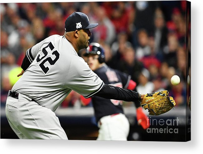 Three Quarter Length Acrylic Print featuring the photograph Divisional Round - New York Yankees V by Jason Miller