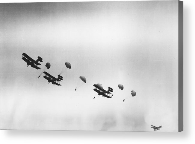 Parachuting Acrylic Print featuring the photograph Early Chutes by H. F. Davis
