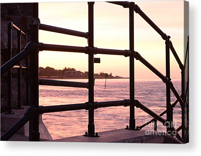 Railings Acrylic Print featuring the photograph Early Morning Railings by Andy Thompson