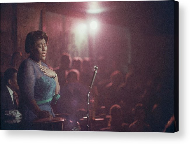 Ella Fitzgerald Acrylic Print featuring the photograph Ella Fitzgerald Performs by Yale Joel