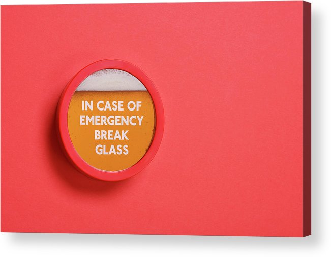 Coral Colored Acrylic Print featuring the photograph Emergency Beer by Andrew Paterson