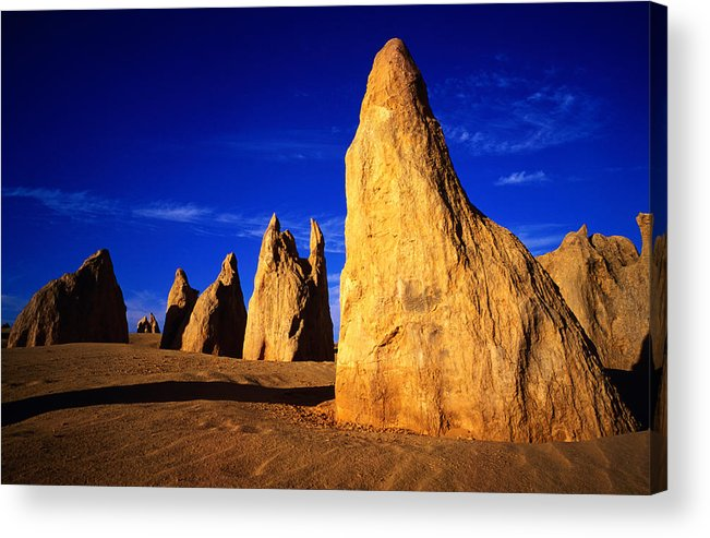 Toughness Acrylic Print featuring the photograph Eroded Rock Formations, Pinnacles by John Banagan