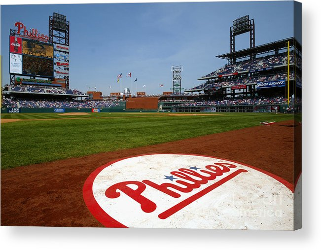 Scenics Acrylic Print featuring the photograph Expos V Phillies by Jamie Squire