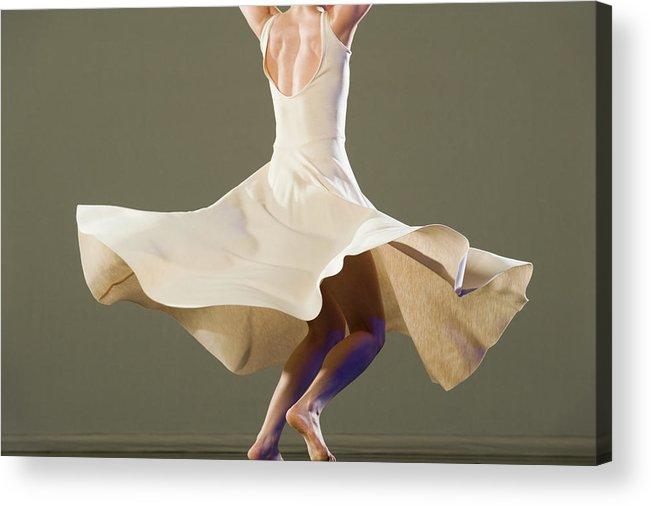 Ballet Dancer Acrylic Print featuring the photograph Female Ballet Dancer Dancing by Erik Isakson