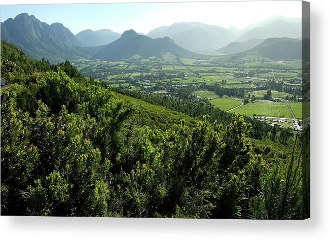 South Africa Acrylic Print featuring the photograph Franschhoek Valley by Ruvanboshoff