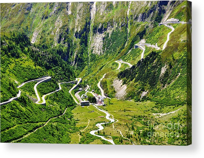 Alps Acrylic Print featuring the photograph Furka Pass Switzerland by Alexander Chaikin