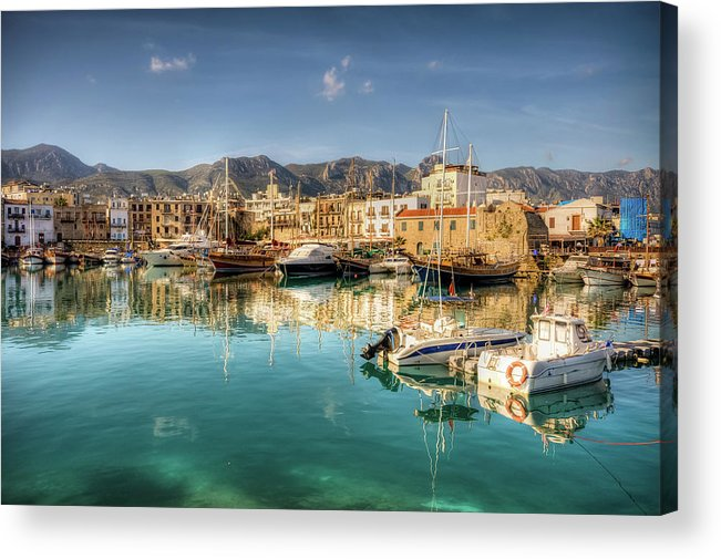 Tranquility Acrylic Print featuring the photograph Girne Kyrenia , North Cyprus by Nejdetduzen