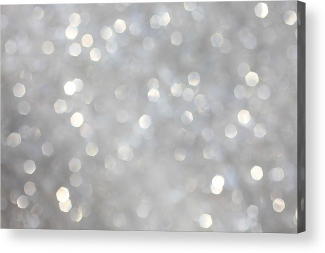 Holiday Acrylic Print featuring the photograph Glittery Background by Merrymoonmary