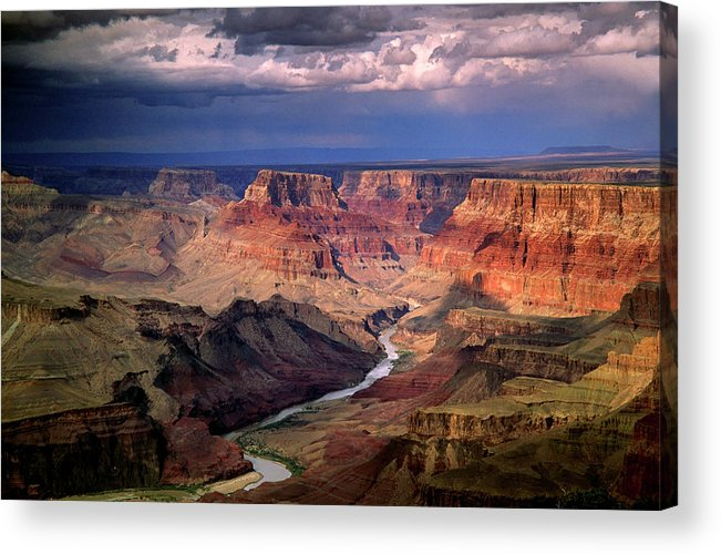 Scenics Acrylic Print featuring the photograph Grand Canyon, Arizon, Usa by Michael Busselle