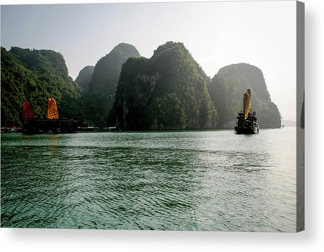 Scenics Acrylic Print featuring the photograph Halong Bay by Rafax