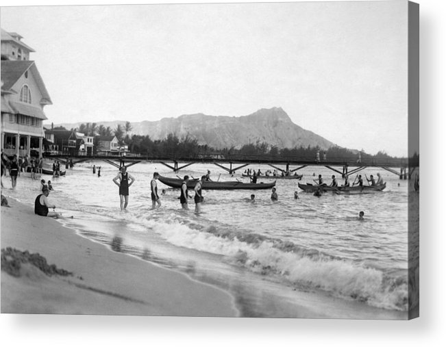 B1019 Acrylic Print featuring the photograph Waikiki, C1921 by Granger