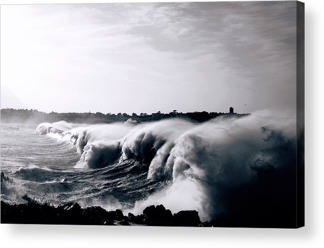 Wind Acrylic Print featuring the photograph Heavy Seas by Peeterv
