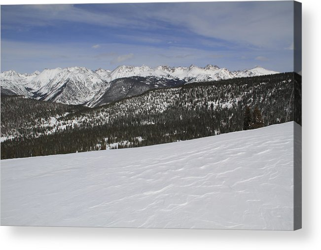 Scenics Acrylic Print featuring the photograph Holy Cross Wilderness Area In Winter by John Kieffer