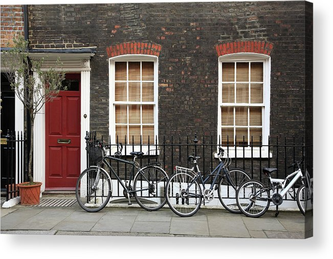 Row House Acrylic Print featuring the photograph House In London by Imagestock