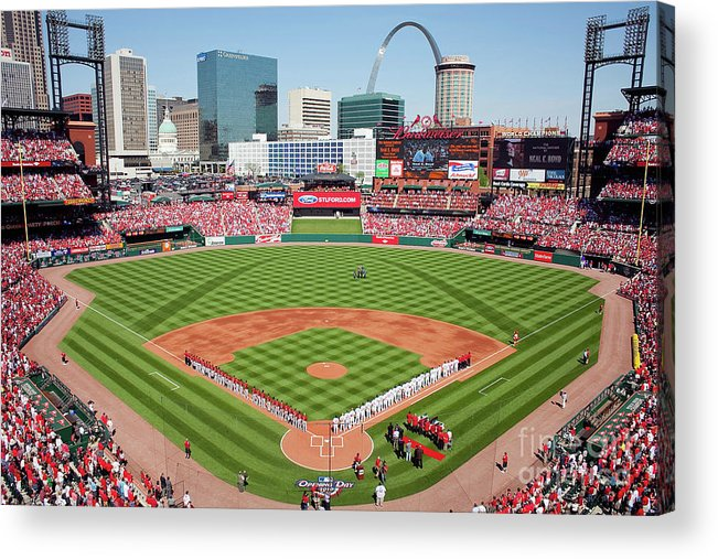 Opening Acrylic Print featuring the photograph Houston Astros V St. Louis Cardinals by Dilip Vishwanat