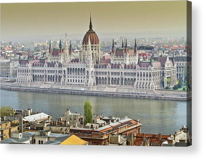 Hungarian Parliament Building Acrylic Print featuring the photograph Hungarian Parliament Building by (c) Thanachai Wachiraworakam