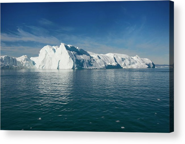 Scenics Acrylic Print featuring the photograph Ilulissat , Disko Bay by Gabrielle Therin-weise