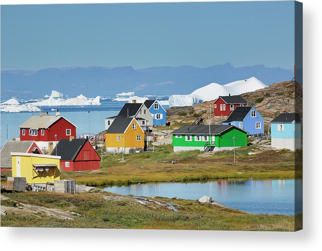 Ilulissat Icefjord Acrylic Print featuring the photograph Ilulissat by Cornelia Doerr
