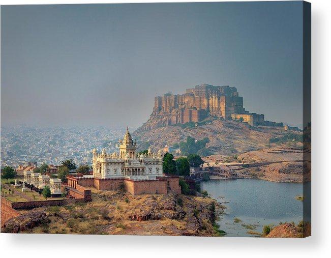 Hinduism Acrylic Print featuring the photograph India, Jodhpure, Mehrangarh Historic by Michele Falzone