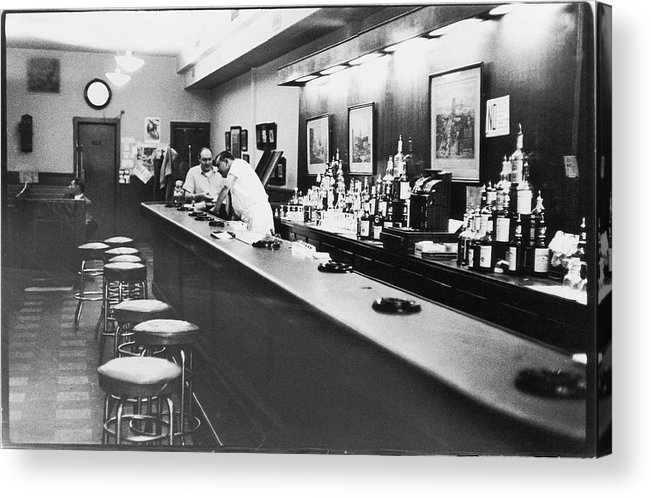 People Acrylic Print featuring the photograph Inside The Cedar Street Tavern by Fred W. McDarrah