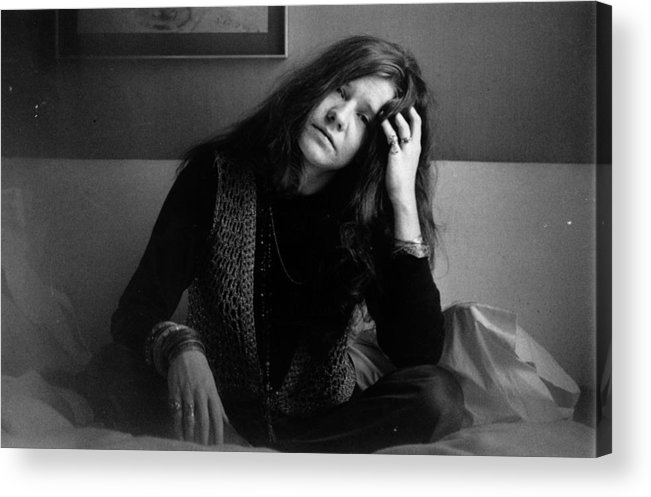 Rock Music Acrylic Print featuring the photograph Janis Joplin by Evening Standard