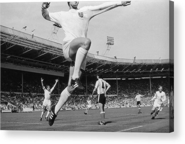 International Match Acrylic Print featuring the photograph Jumping Geoff by Central Press