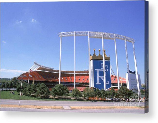 American League Baseball Acrylic Print featuring the photograph Kauffman Stadium by Stephen Dunn