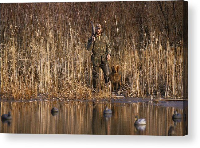 1980-1989 Acrylic Print featuring the photograph Kirk Gibson Goes Duck Hunting by Ronald C. Modra/sports Imagery