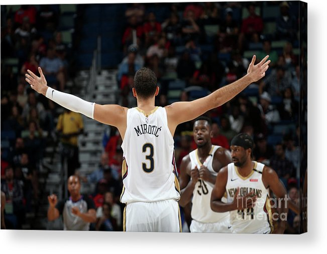 Smoothie King Center Acrylic Print featuring the photograph La Clippers V New Orleans Pelicans by Layne Murdoch Jr.
