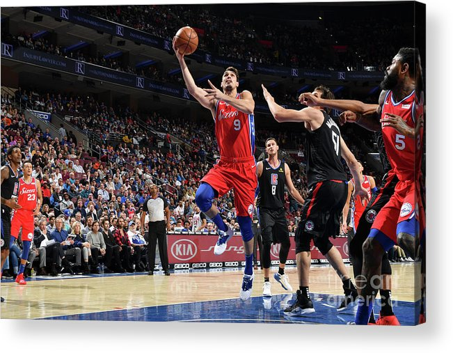Nba Pro Basketball Acrylic Print featuring the photograph La Clippers V Philadelphia 76ers by Jesse D. Garrabrant
