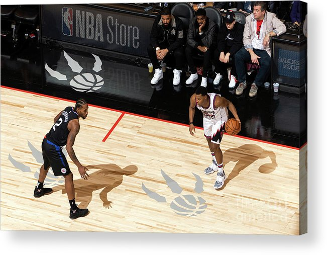 Nba Pro Basketball Acrylic Print featuring the photograph La Clippers V Toronto Raptors by Mark Blinch