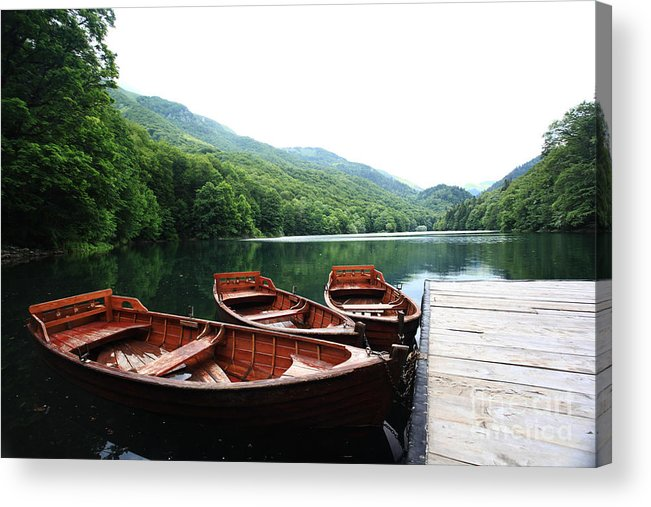 Beauty Acrylic Print featuring the photograph Landscape Bay Sea Boat Adventure by Kichigin