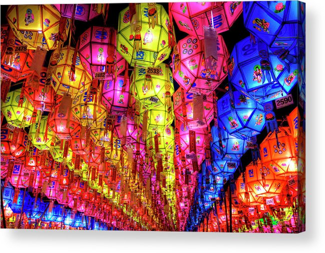Tranquility Acrylic Print featuring the photograph Lanterns Hanging by Jason Teale Photography Www.jasonteale.com